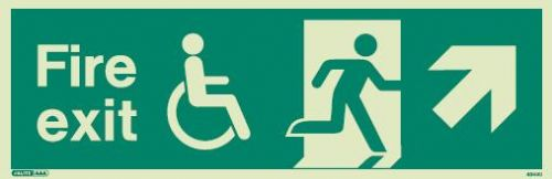 (4044) Jalite Mobility Impaired Fire Exit Up Right sign